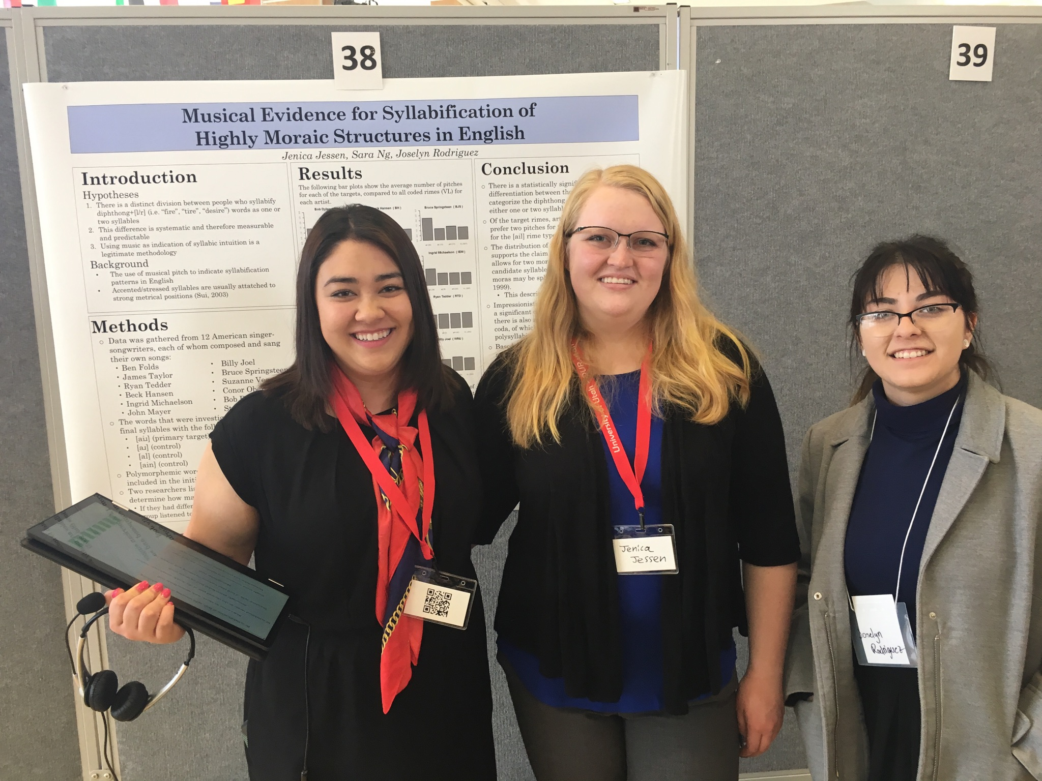 Jenica Jessen, Sara Ng, Joselyn Rodriguez, and Eve Olson presented at the Undergraduate Research Symposium on April 4th.