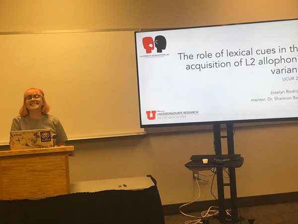 Joselyn Rodriguez (Shannon Barrios)  The role of lexical cues in the acquisition of L2 allophonic variants