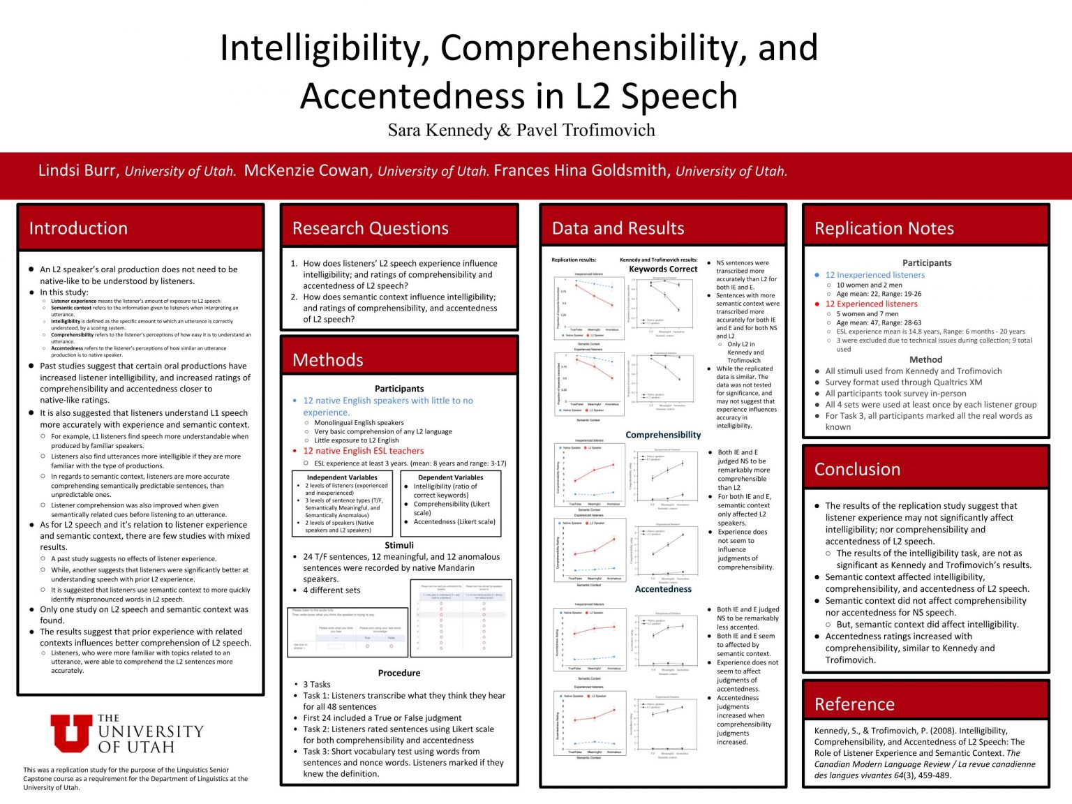 Mckenzie Cowan, Lindsi Burr, Frances Hina Goldsmith - Intelligibility, Comprehencibility, and Accentedness in L2 Speech